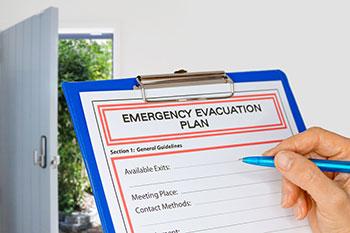 Fire marshal training and evacuation plans