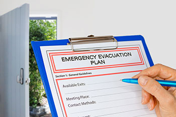 Fire marshal training and evacuation plans